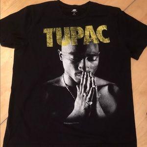 Tupac 2pac Praying Hands T Shirt Medium Blk Yellow